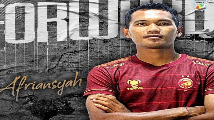 Biodata Profil Afriansyah, Pencetak Gol Kemenangan Sriwijaya FC Atas Muba Babel United