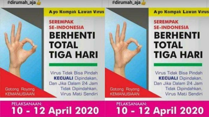 Viral Ajakan Berhenti Total Tiga Hari Serempak se-Indonesia Mulai 10 April Beredar di Grup WhatsApp