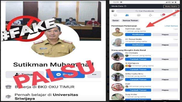 Viral di Medsos, Akun FB Gunakan Foto Kepala BKPSDM OKU Timur, Sebut Bisa Luluskan Tes CPNS