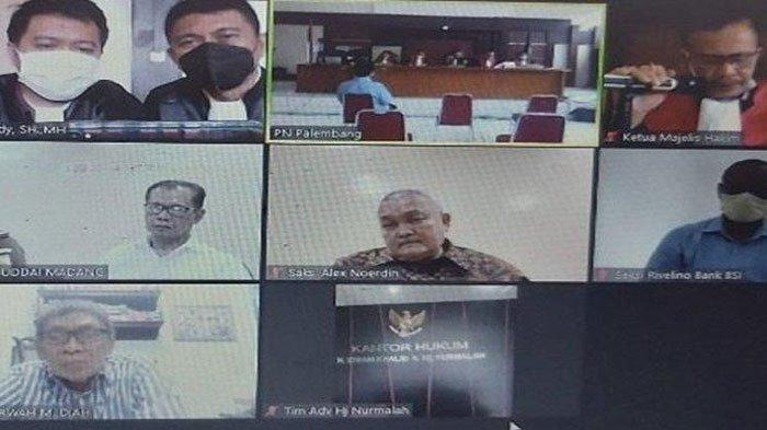 Hadir Virtual di Sidang Masjid Sriwijaya, Alex Noerdin Bantah Terima Uang dan Sewa Helikopter