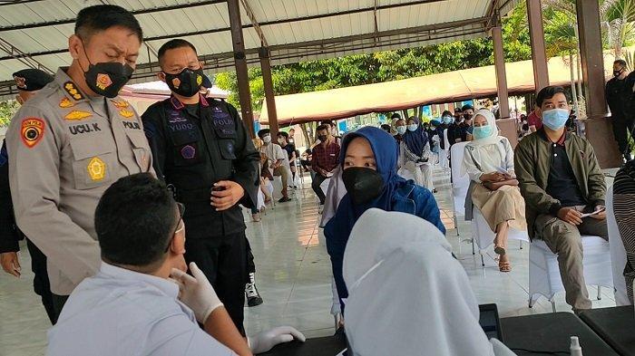 Alumni AKPOL Angkatan 95 Patriatama Gelar Vaksinasi Massal di Palembang