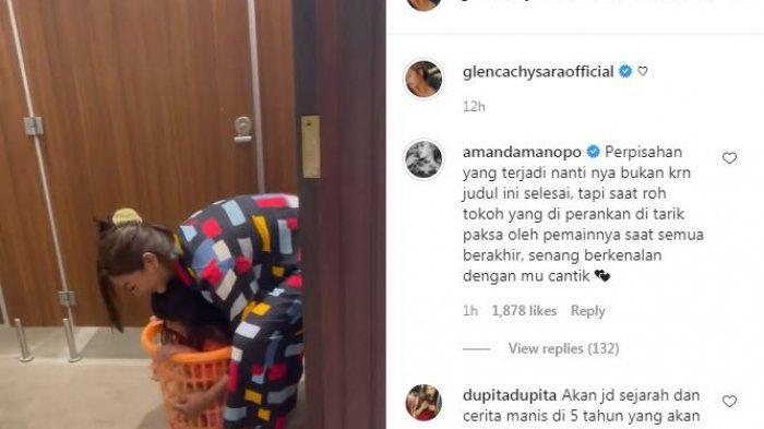 Amanda Manopo resmi berpamitan dengan Glenca Chysara