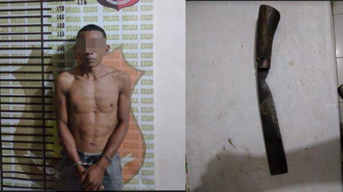 Buron Hampir 2 Tahun, Pelaku Pembacokan Diringkus Polsek Muara Kuang, Dipicu Getah Karet