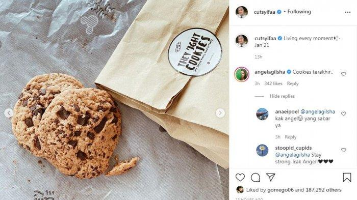 Angela Gilsha soroti cookes yang dibagikan Cut Syifa
