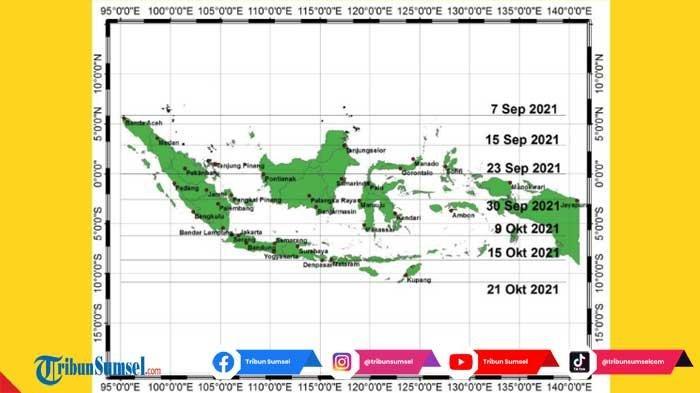 Jadwal Hari Tanpa Bayangan atau Kulminasi Utama di Daerah Sumatera Selatan, Catat Waktu Terjadinya