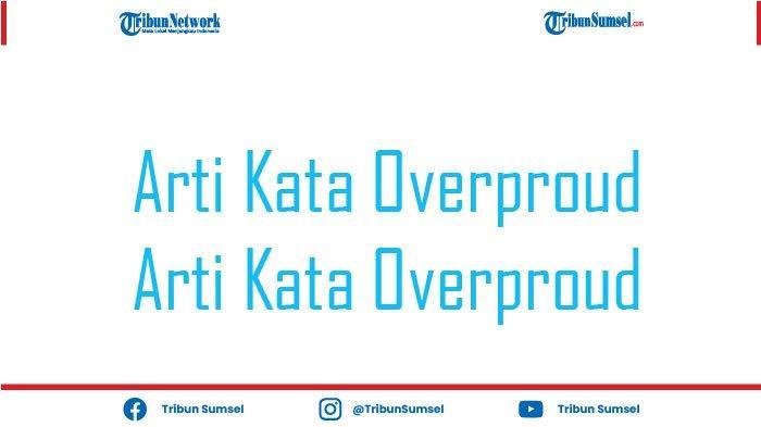 Arti Kata Overproud Dalam Bahasa Indonesia, Istilah Sindiran Kekinian Banyak Ditemukan di Medsos