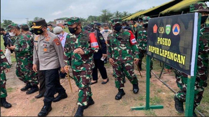 Pangdam  II/Sriwijaya dan Kapolda Sumatera Selatan Cek Kesiapan Apel LKO Karhutla di Ogan Ilir