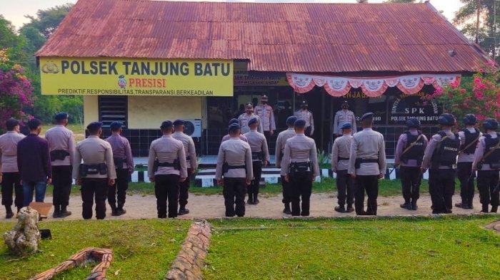 Polsek Tanjung Batu Laksanakan Apel Penerimaan Personil BKO Brimob Kompi II Batalyon C Ogan Ilir