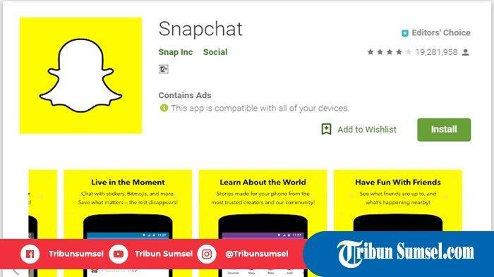 Aplikasi edit foto Snapchat