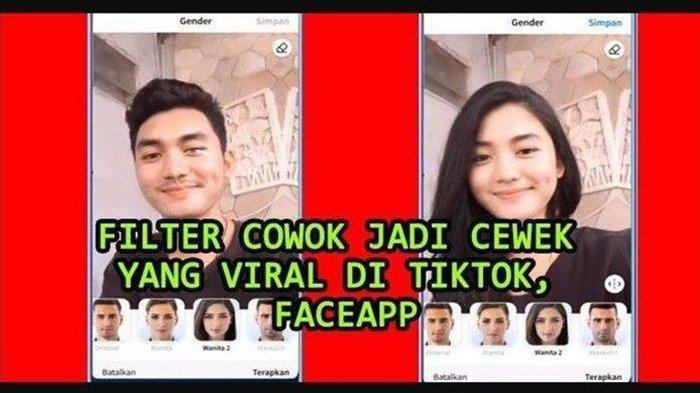 Aplikasi Merubah Wajah, Ini Cara Menggunakan FaceApp Filter Edit Video Pria Jadi Perempuan