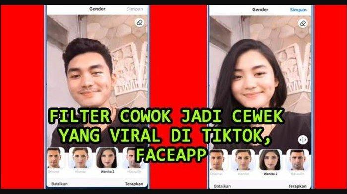 Aplikasi Merubah Wajah FaceApp Viral di Tiktok, Ini Cara Mudah Menggunakan dan Bagikan Filter Foto