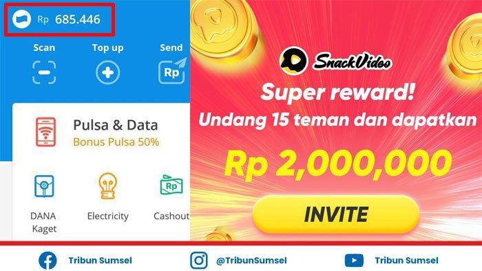Aplikasi Snack Video Terbaru Juni 2021, Dapatkan Uang Total Rp 2 Juta, Ini Caranya