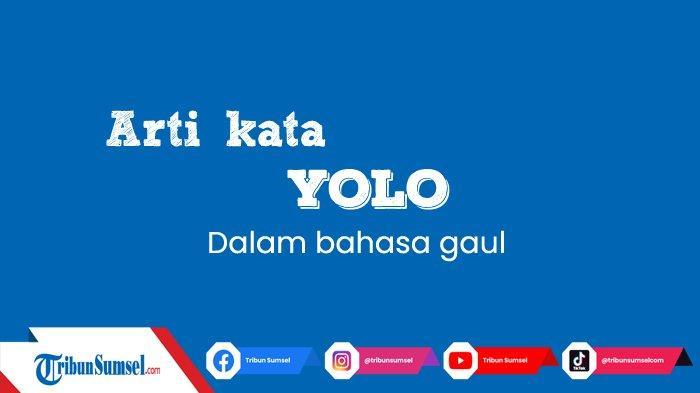 Arti Kata YOLO Dalam Bahasa Gaul, Singkatan Dari Apa? Ini Contoh Penggunaannya