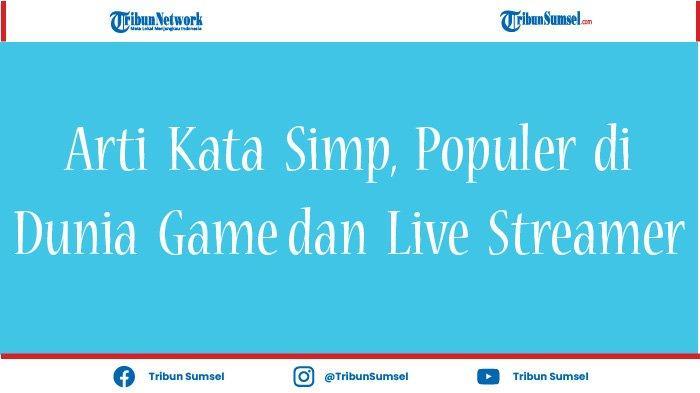 Arti Kata Simp, Populer Sering Dipakai Dalam Game, Sering Ditemui di Twitter, Instagram dan Twitch