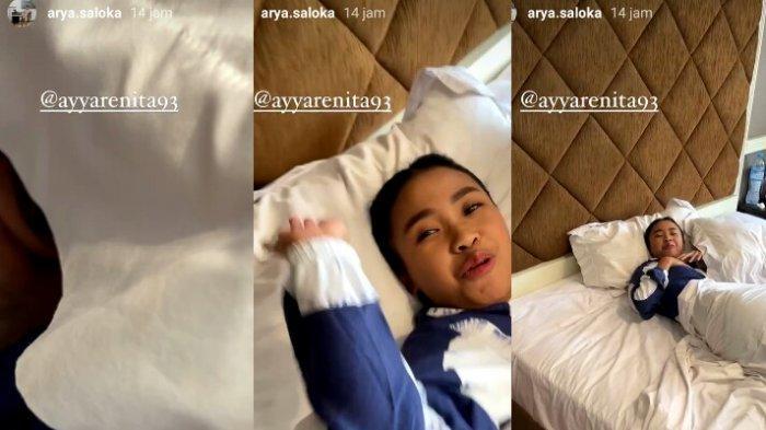 Arya Saloka jahili Ayya Renita saat tidur