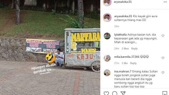 Arya Saloka terekam kamera nongkrong di belakang gerobak martabak