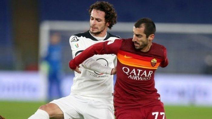 Sembilan  Pemain AS Roma Dihajar Spezia 4-2, Terpental dari 16 Babak Besar Coppa Italia