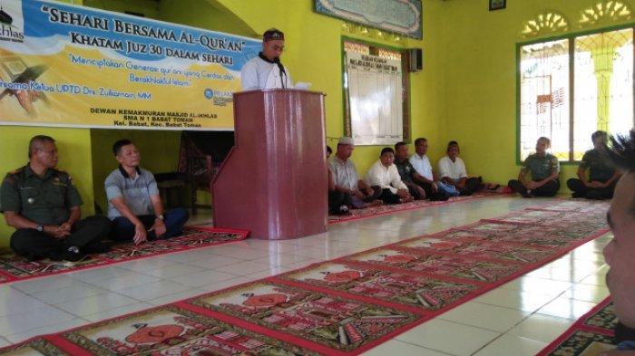 DKM Al-Ikhlas SMAN 1 Babat Toman Gelar Kegiatan Sehari Bersama Al-Qur'an dan Sosialisasi Pancasila