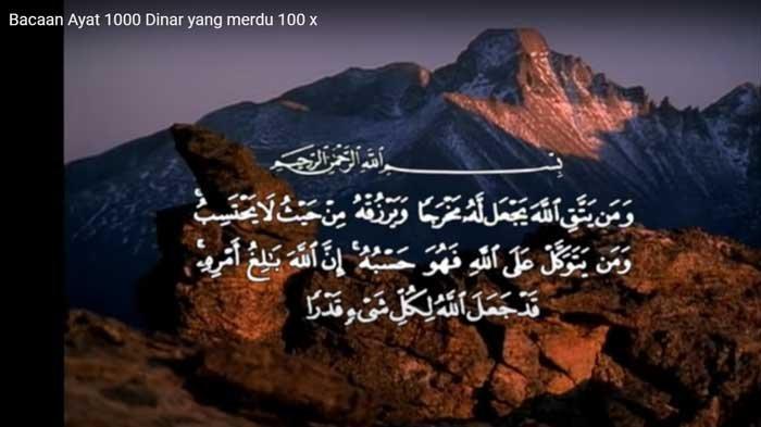 Ayat Seribu Dinar Lengkap Arab, Latin dan Artinya, Ini Keutamaan serta Letak Ayatnya dalam Al-Quran