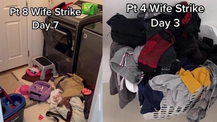 Istri Ngambek 7 hari Tak Urus Rumah Gegara Suami Tuduh Malas, Rumah Berubah Jadi Kapal Pecah