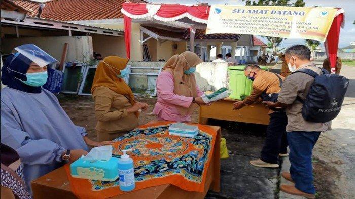 Ratusan Balon Kades Peserta Pilkades Serentak di OKI Ikuti Medikal Checkup di RSUD Kayuagung