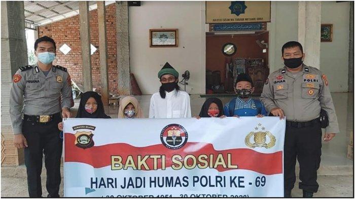 HUT Humas Polri Ke-69, Humas Polres Muara Enim Adakan Bhakti Sosial
