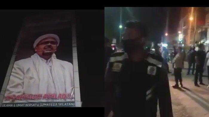 PERNYATAAN FPI Sumsel Soal Baliho Gambar Rizieq Shihab di Palembang Dicopot, Sebut Tindakan Lucu