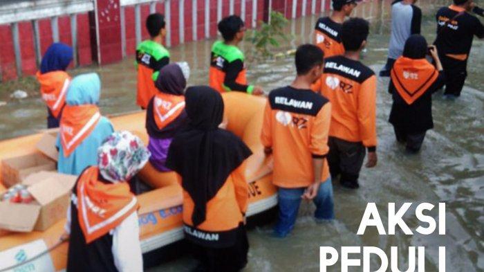 Jakarta Dilanda Banjir, Rumah Zakat Bagikan 800 Kornet Super Kurban