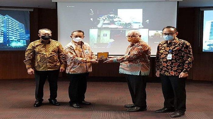 Audiensi Bank Bengkulu, Bank Lampung, dan Bank Jambi di Bank Sumsel Babel