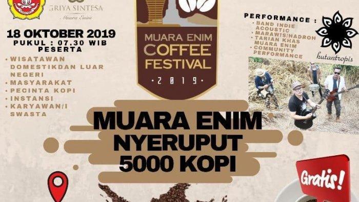 Pemkab Muaraenim Akan Gelar Festival Kesenian Tradisional dan Festival Nyeruput 5000 Kopi