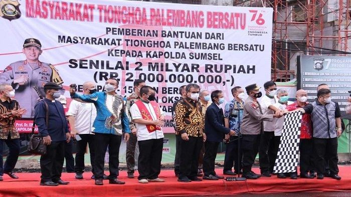 Kapolda Sumsel Terima Bantuan dari Masyarakat Tionghoa Palembang Bersatu