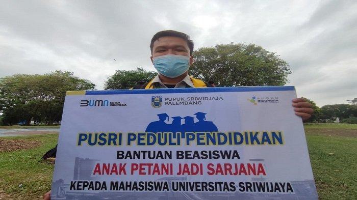 Anak Petani Kopi OKU Selatan Raih Beasiswa Program Anak Petani Jadi Sarjana PT Pusri Palembang