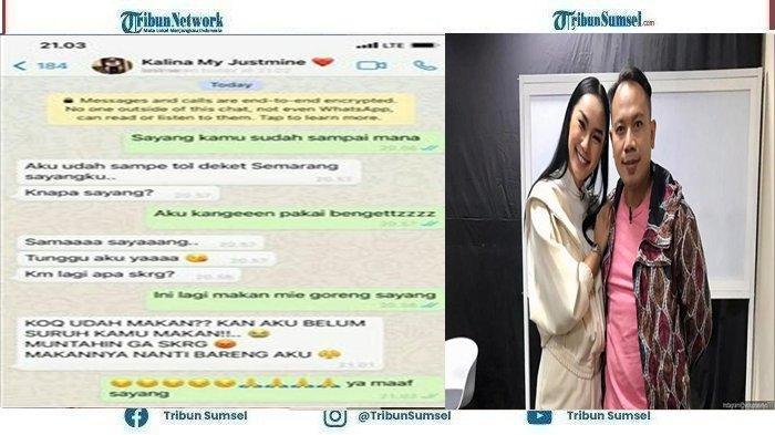 Vicky Prasetyo Perlihatkan Isi Chat Sang Istri, Kalina Ocktaranny : Aku Kangen Pakai Bingitz
