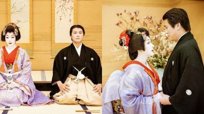 Bikin Pangling, Penampilan Syahrini Dandan Ala Geisha di Ultah Pernikahan Ke-2 dengan Reino Barack