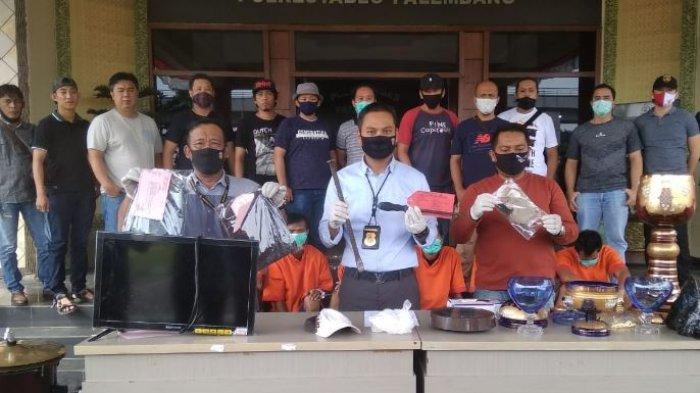 3 Sekawan Pembobol Rumah di Palembang Dibekuk, Barang Bukti Senilai Rp 1,2 Miliar