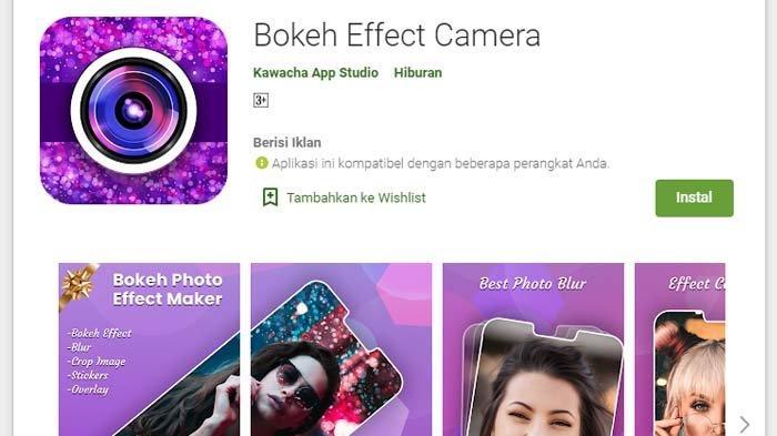 Bokeh Effect Camera (Google Playstore)