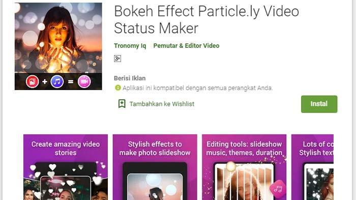 Bokeh Effect Particle.ly Video Status Maker