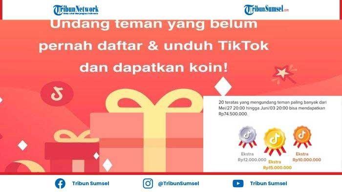 Bonus Jutaan Rupiah, Cara Dapatkan Uang dari Aplikasi Tiktok Terbaru Juni 2021! Ini List Hadiahnya