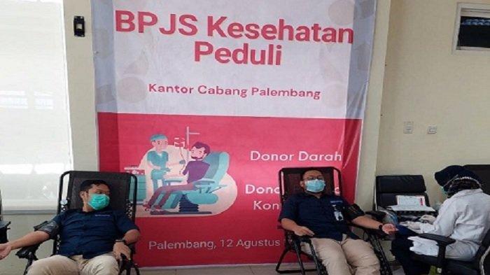 BPJS Kesehatan dan PMI Kota Palembang Bantu Pasien Covid-19 lewat Aksi Donor Darah