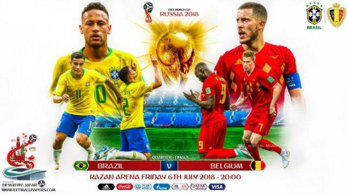 Siarang Langsung Brazil vs Belgia di Piala Dunia 2018 dengan Cara Ini, Tayang di Trans TV!