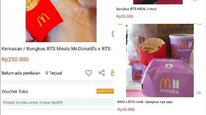 Fenonema Baru, Bungkus BTS Meal Dijual Harga Lebih Tinggi dari Harga Menu yang Asli