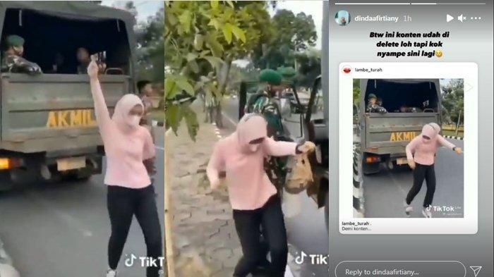 Dihujat Usai Konten Joget di Depan Tentara Viral, Seleb Tiktok Ngeluh, Video Sudah Dihapus Ada Lagi