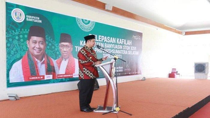 Bupati Askolani Lepas Kafilah Mewakili Kabupaten Banyuasin dalam STQH Tingkat Provinsi