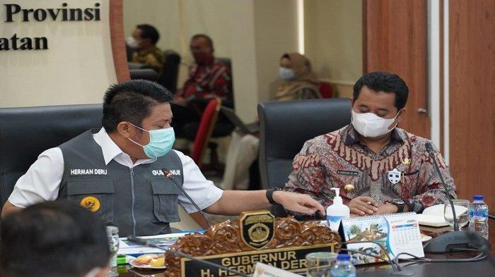 Bupati Askolani Rapat Bersama Gubernur Sumsel Tentang Pembangunan Pelabuhan Tanjung Carat