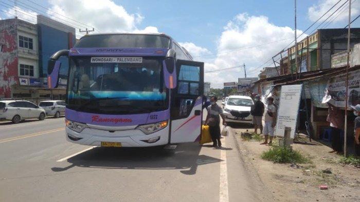 H-3 Larangan Mudik, Warga Sumsel Banyak Mudik ke Jawa, Loket Bus AKAP Tetap Layani Penumpang