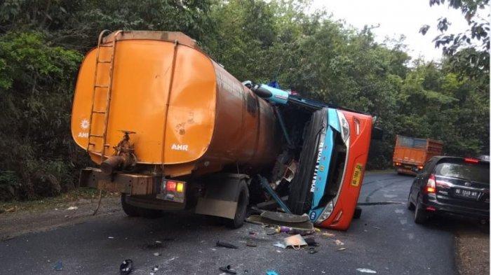 Bus Rosalia Indah Kecelakaan, Kepala Truk Tanki Sampai Tembus Badan Bus, 8 Tewas 19 Terluka