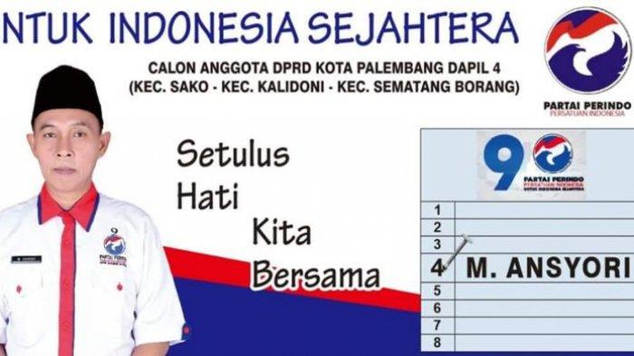 Ketahuan Nyaleg dari Perindo, Kepala SMP 3 Palembang Ansyori Dicopot