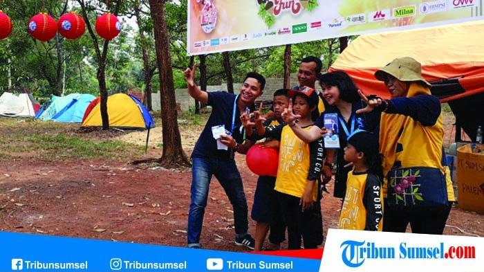 Peserta Family Camping Fun Semangat Ikut Outbound di TWA Punti Kayu