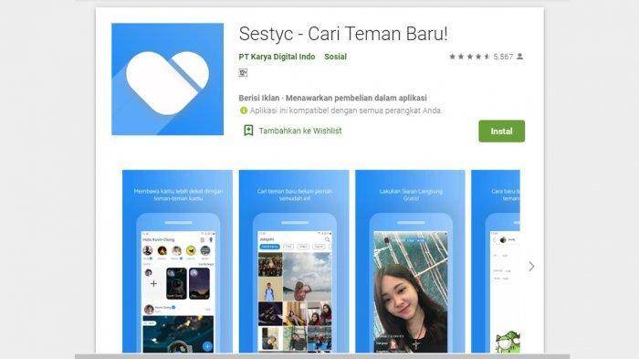 Cara Daftar Buat Akun Sestyc di Android, Aplikasi Media Sosial Karya Anak Bangsa, Download di Sini