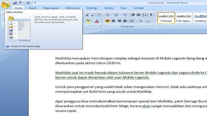 Cara Simple  Merubah File Document Menjadi File PDF, Langsung di Aplikasi Microsoft Word